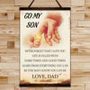 FM007 - Dad To Son - Hard Times And Good Times - Family Canvas With The Wood Frame