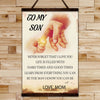 FM008 - Mom To Son - Hard Times And Good Times - Family Canvas With The Wood Frame