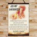 FM009 - Dad To Daughter - Hard Times And Good Times - Family Canvas With The Wood Frame