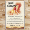 FM009 - Dad To Daughter - Hard Times And Good Times - Family Poster