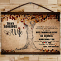 FM012 - To My Gorgeous Wife - I Love You Forever And Always - Family Canvas With The Wood Frame