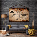 FM013 - To My Gorgeous Husband - I Love You Forever And Always - Family Canvas With The Wood Frame