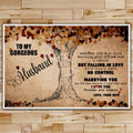FM013 - To My Gorgeous Husband - I Love You Forever And Always - Family Poster
