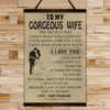 FM014 - To My Gorgeous Wife - i Love You - Family Canvas With The Wood Frame