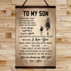 FM016 - Mom To Son - The Beat Of My Heart - The Happiness In My Life - The Energy Of My Soul - Family Canvas With The Wood Frame