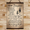 FM017 - Mom To Daughter - The Beat Of My Heart - The Happiness In My Life - The Energy Of My Soul - Family Canvas With The Wood Frame