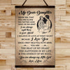 FM018 - My Dear Daughter - The Beat Of My Heart - The Happiness In My Life - The Energy Of My Soul - Family Canvas With The Wood Frame