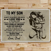 FM019 - Dad To Son - Stay Strong - Be Confident & Just Do Your Best - Family Poster