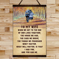 FM029 - To My Wife - I Had You And You Had Me - Family Canvas With The Wood Frame