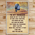 FM030 - To My Husband - I Had You And You Had Me - Family Poster