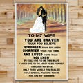 FM033 - To My Wife - You Are My Sunshine - Family Poster