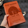 FMN003 - (JD33L) - Dad To Daughter - I Love You - Vintage Journal - Family Notebook