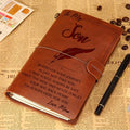 SAN004 (JD74) - Dad & Mom To Our Son - Your Way Back Home - Vintage Journal - Samurai  Notebook