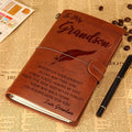 FMN016 - Grandma To Grandson - Wherever Your Journey - Vintage Journal - Family Notebook