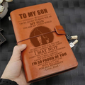FMN097 (JD181) - Dad To Son - I'm So Proud Of You - Vintage Journal - Family Notebook