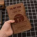 FMN163 (JT101) - Dad To Son - Your Way Back Home - Vintage Journal - Family Notebook