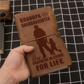 FMN194 (JT159) - Grandpa And Granddaughter - For Life - Vintage Journal - Family Notebook
