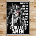 KT016 - Until I Said Amen - Knight Templar Poster