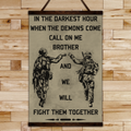 SD001 - Call On Me Brother - English - Soldier Canvas With The Wood Frame
