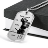 Samurai - Your Mind Is Your Best Weapon - French - Military Ball Chain - Luxury Dog Tag