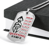 Warrior - Spartan - Quitting Is Not 2 - Military Ball Chain - Luxury Dog Tag