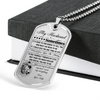 Samurai - Wife To Husband - You Are My Best Friend My Soul - Mate My Everything - Military Ball Chain - Luxury Dog Tag