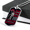 Warrior - Spartan - PAIN - You Are Not Dead Yet - Black - Military Ball Chain - Luxury Dog Tag