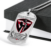 Knight Templar - Call On Me Brother 2 - French - Military Ball Chain - Luxury Dog Tag