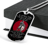Knight Templar - Be Without Fear - English - Galaxy - Military Ball Chain - Luxury Dog Tag