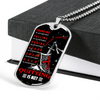 Knight Templar - Quitting Is Not - English - Military Ball Chain - Luxury Dog Tag