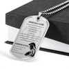 Warrior - Spartan - Spartan Code - Warrior Ethos - English - Military Ball Chain - Luxury Dog Tag