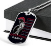 Warrior - Spartan - Quitting Is Not - Black - Military Ball Chain - Luxury Dog Tag