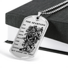 Warrior - Spartan - The Spartans Do Not Ask How Many Are The Enemy But Where Are They - Military Ball Chain - Luxury Dog Tag