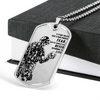 Soldier - FEAR - Never Beginning To Live - Military Ball Chain - Luxury Dog Tag
