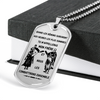 Knight Templar - Call On Me Brother - French - Military Ball Chain - Luxury Dog Tag