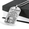 Soldier - Grandpa To Grandson - Beautiful Inside And Out - English - Military Ball Chain - Luxury Dog Tag