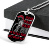 Warrior - Spartan - PAIN - You Are Not Dead Yet - Galaxy - Military Ball Chain - Luxury Dog Tag