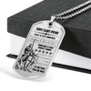 Knight Templar - Be Without Fear - French - Military Ball Chain - Luxury Dog Tag