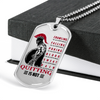 Warrior - Spartan - Quitting Is Not - Military Ball Chain - Luxury Dog Tag