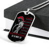 Warrior - Spartan - Quitting Is Not - Galaxy - Military Ball Chain - Luxury Dog Tag