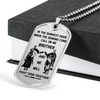 Knight Templar - Call On Me Brother - English - Military Ball Chain - Luxury Dog Tag