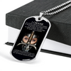 Knight Templar - I Choose - English - Black - Military Ball Chain - Luxury Dog Tag