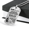 Soldier - Mom To Daughter - Never Lose - Army - English - Military Ball Chain - Luxury Dog Tag