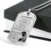 Warrior - Spartan - Spartan Code - Warrior Ethos - French - Military Ball Chain - Luxury Dog Tag