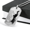 Samurai - There Is Nothings Outside Of Yourself - Military Ball Chain - Luxury Dog Tag