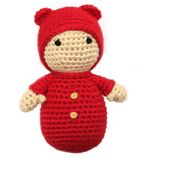 Cheengoo Baby with Bear Hat Rattle | Eco-friendly & Organic