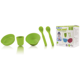 Pacific Baby Natural Bamboo Toddler Feeding Set Eco-friendly and Biodegradable