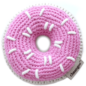 Cheengoo Pink Donut Baby Rattle | Eco-friendly & Organic
