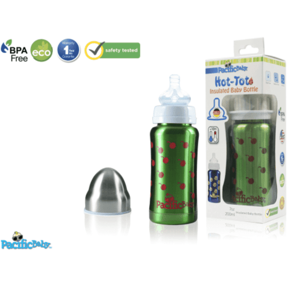 Pacific Baby Hot-Tot Insulated Baby Bottle Cherries 200ml | Recyclable