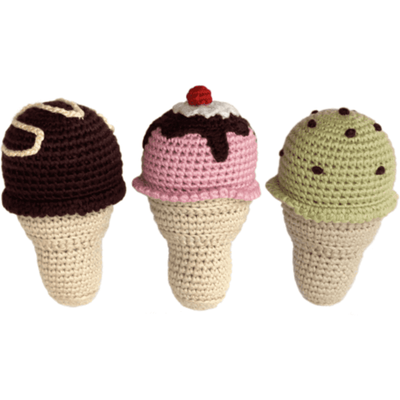 Cheengoo Ice Cream Baby Rattle | Eco-friendly & Organic